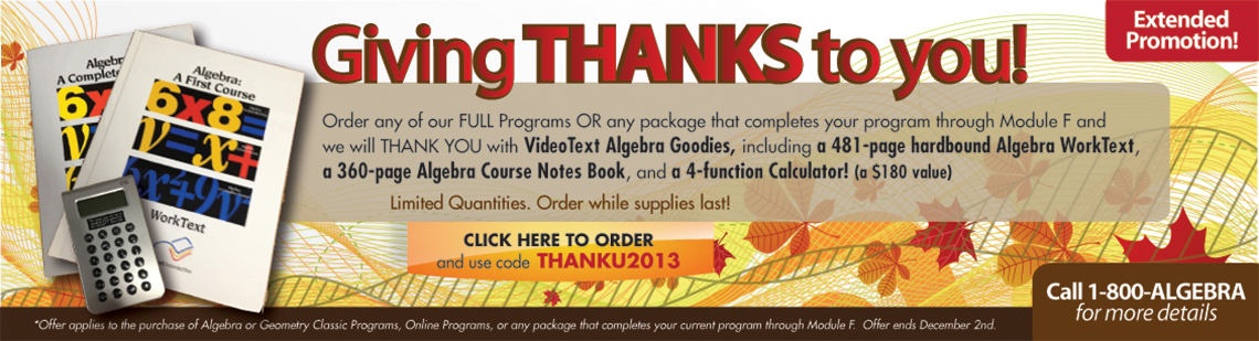 Giving THANKS to you!