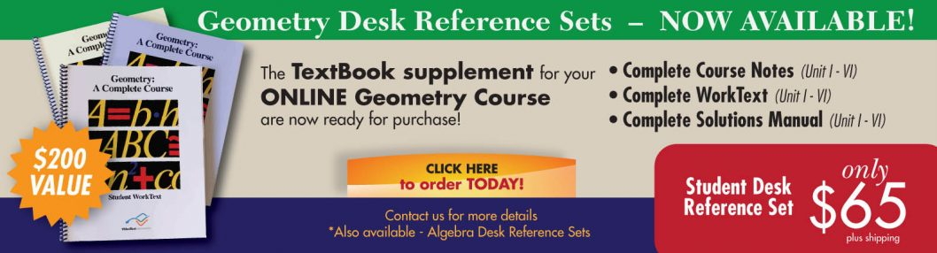 NEW! Geometry Desk Reference Sets NOW AVAILABLE!