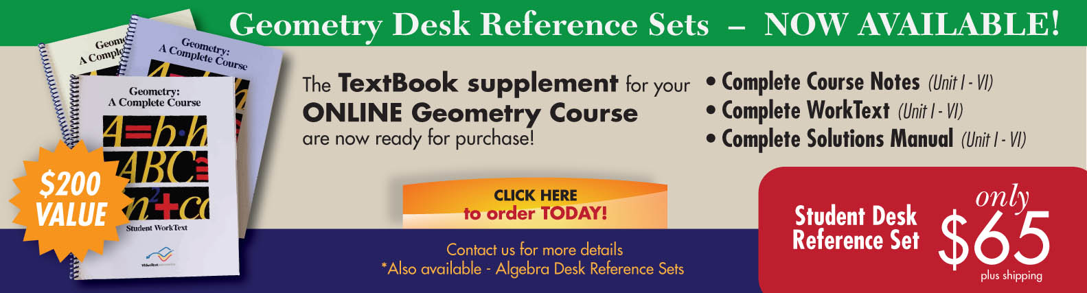 Geometry desk reference click hereg new geometry desk reference sets now available fandeluxe Choice Image