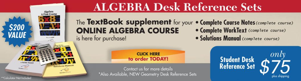 Algebra Desk Reference Sets Available!